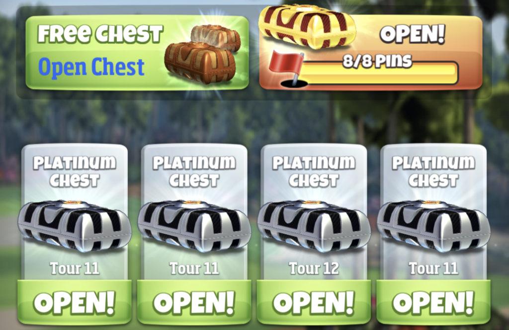 chest open bot in golf clash
