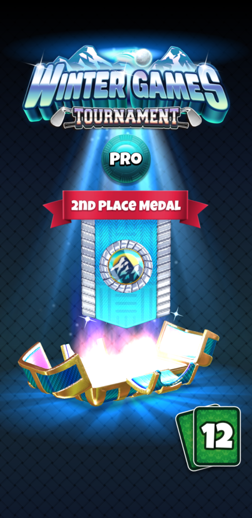 2nd place in tournament in golf clash