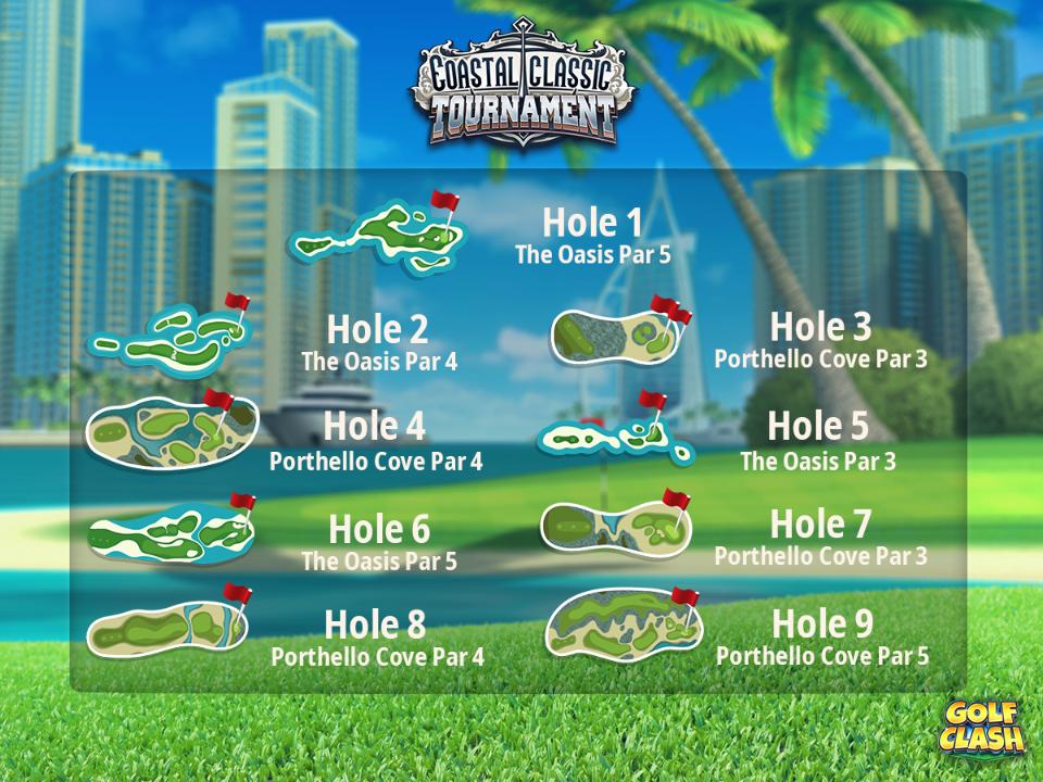 golf clash coastal classic tournament