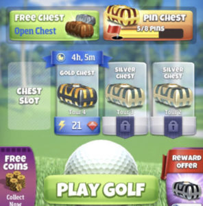free coins home screen golf clash