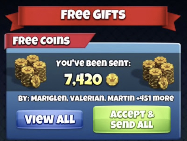 golf clash free coins gifts