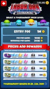 tournament rewards golf clash
