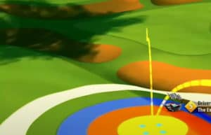golf clash safari sunrise tournament text guide acacia reserve hole 2 drive